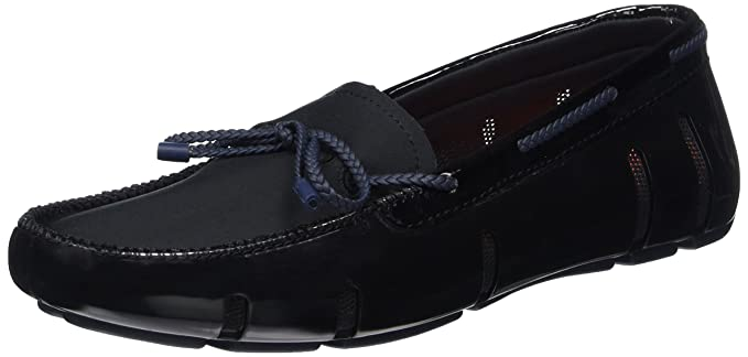 59566d05d90 Amazon.com  SWIMS New Braided Lace Loafer Black Navy 6 Womens Shoes ...