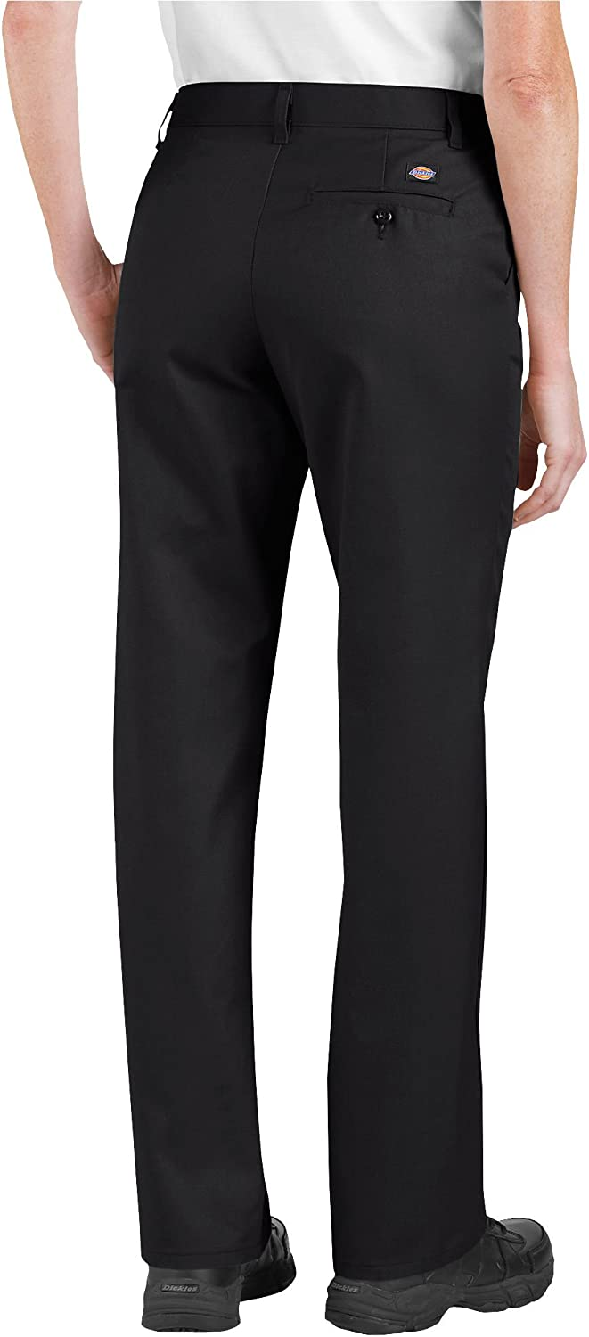 18RG Desert Sand Dickies Occupational Workwear FP322DS18RG FP322 Womens Relaxed Fit Flat Front Pant Fabric