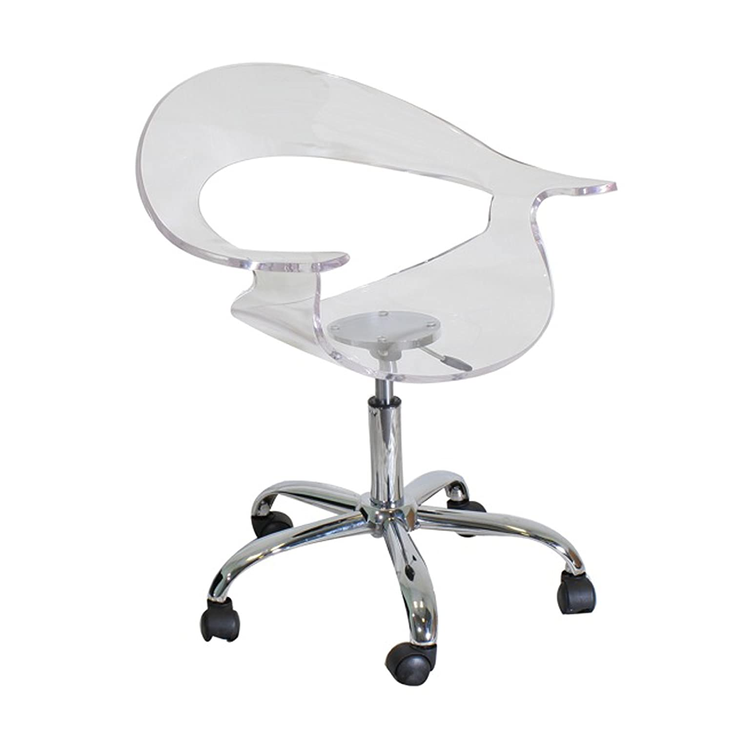 Amazon LumiSource Rumor Chair Clear Kitchen & Dining