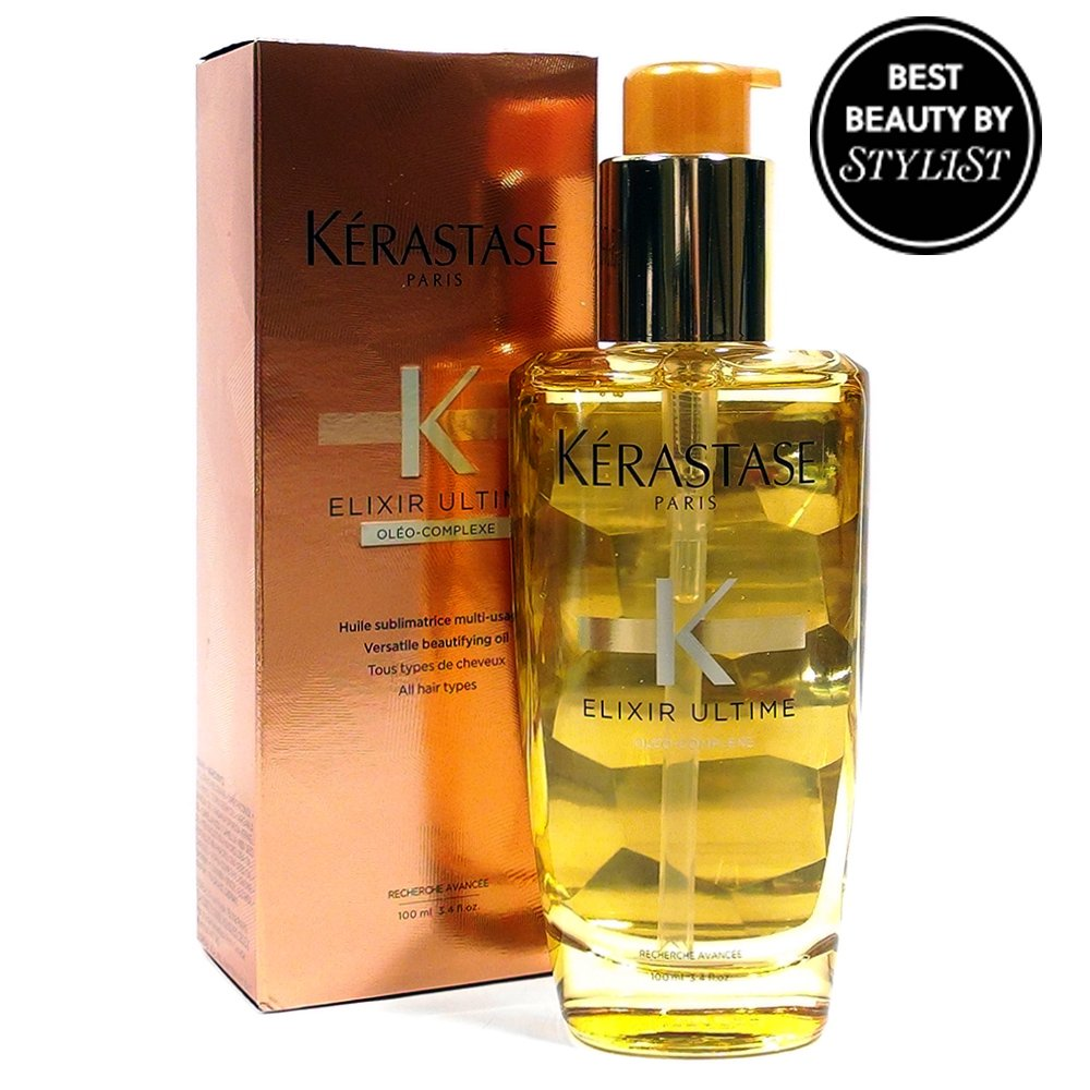 Kerastase Elixir Ultime Oil 3.4oz with Essential Oils in Glass Bottle