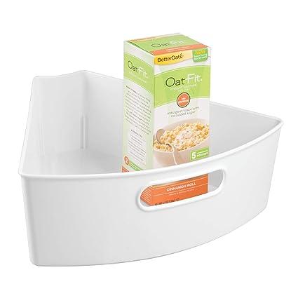 Amazon Com Interdesign Plastic Lazy Susan Cabinet Storage Bin 1 6