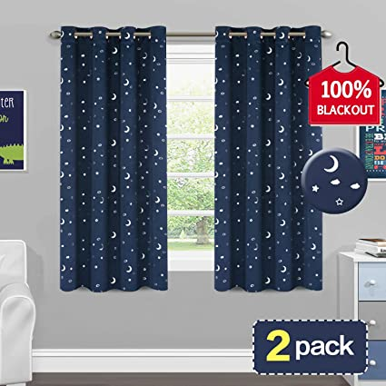 amazon com 100% blackout nursery curtains natural feeling adorable