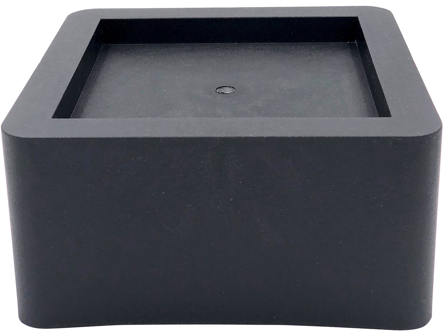 DuraCasa 3 Inch Bed Risers - Fits Huge 5.5 Inch Bed or Furniture Post, Creates an Additional 3 Inches of Height or Storage! Heavy-Duty Table, Chair, Desk or Sofa Riser (6, 3 Inch Black) by DuraCasa (Image #1)