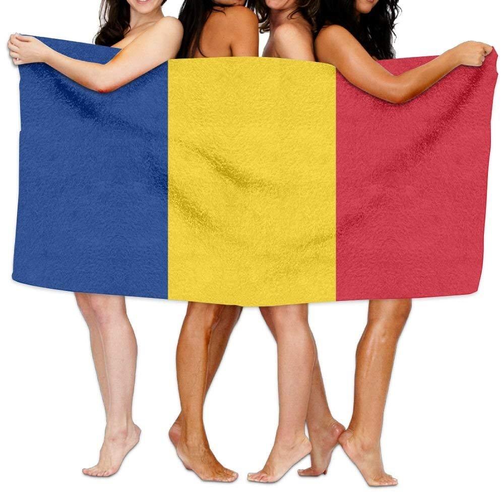Hat New Toalla de Playa con la Bandera de Rumaní a, de 203 x 130 cm, Suave y Ligera, Absorbente para bañ o, Piscina, Yoga, Pilates, Picnic, Toallas Absorbente para baño