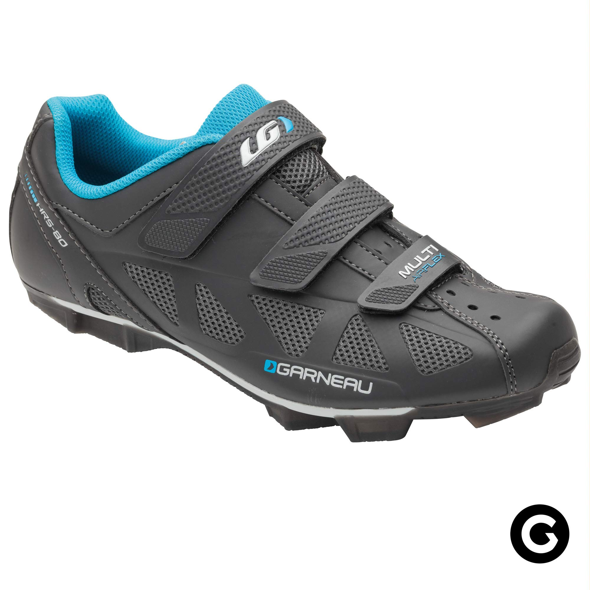 Louis Garneau - Men's Multi Air Flex Bike Shoes for Commuting, MTB and Indoor Cycling, SPD Cleats Compatible with MTB Pedals, Asphalt, US (10), EU (44)