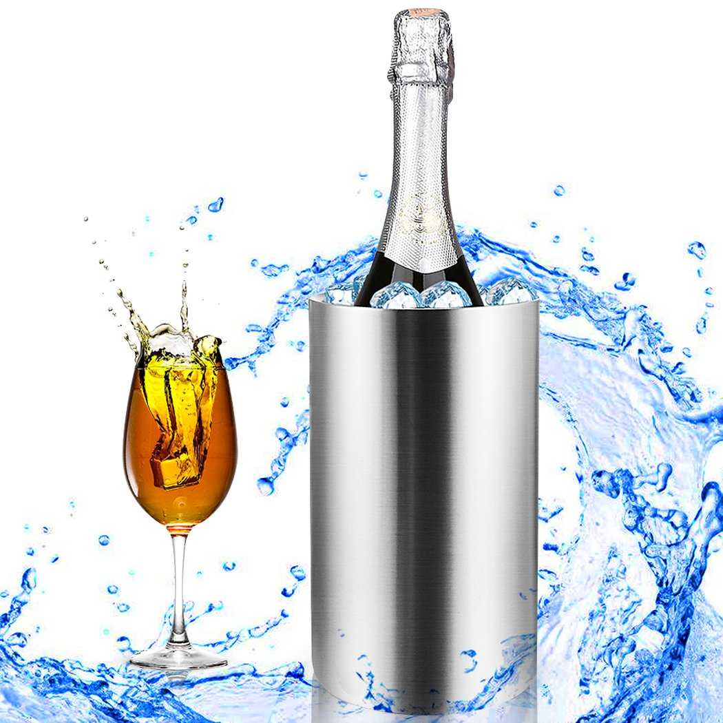 Homdox Stainless Steel Ice Buckets Double Wall Wine Bucket 0.702 Litre