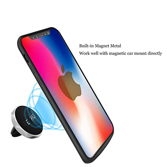 new concept abb75 13c62 iPhone X Battery Case,MQOUNY Magnetic Power 3600mAH Rechargeable Battery  Portable Charger Protective Charging Case Power Bank Cover for Apple iPhone  ...