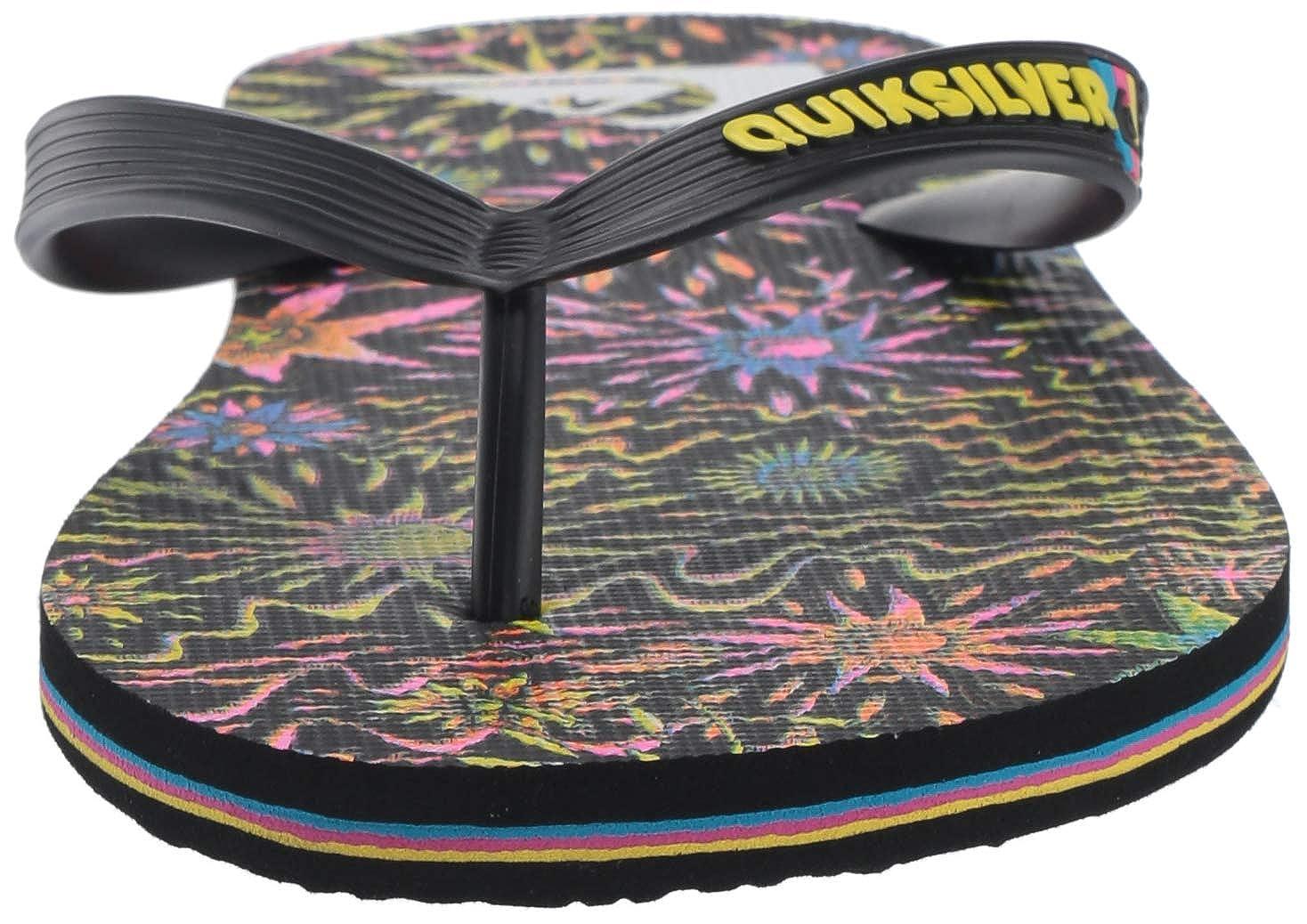 Black//Yellow M US Quiksilver Mens Molokai Art Sandal 7 40