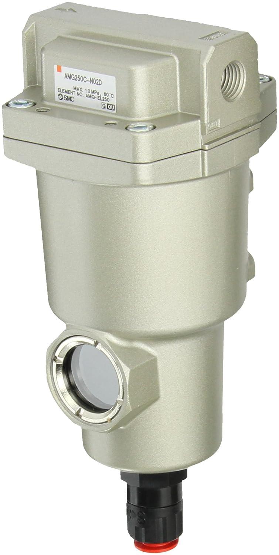 SMC AMG250C-N02D Water Separator, N.O. Auto Drain, 750 L/min, 1/4' NPT 1/4 NPT