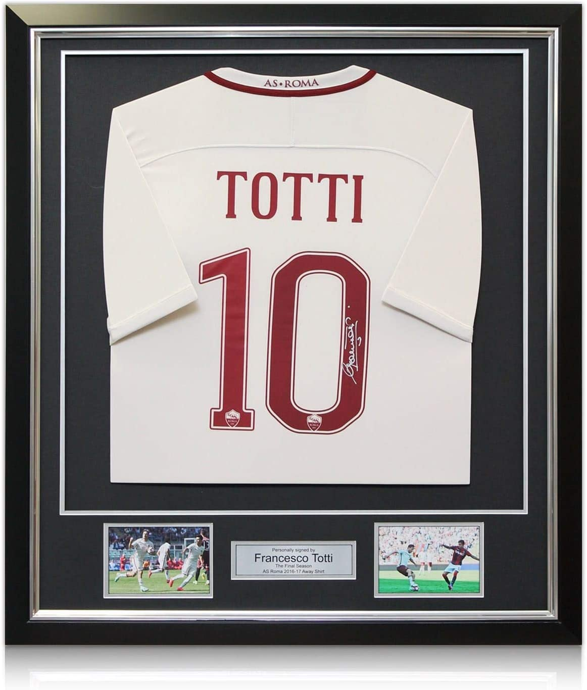 la derni/ère Saison Chemise Exclusive de Francesco Totti sign/ée AS Roma 2016-17