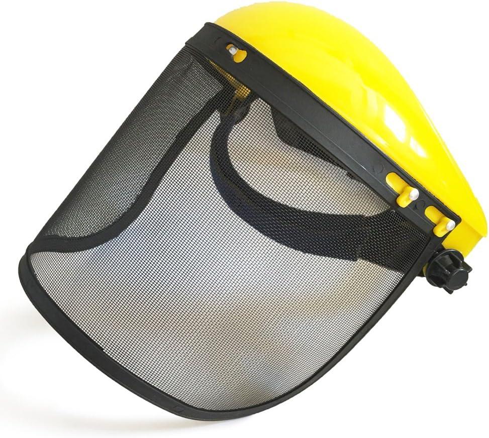 Tronçonneuse Protection Casque Avec Maille Acier Visière /& Tronçonneuse Gants XL