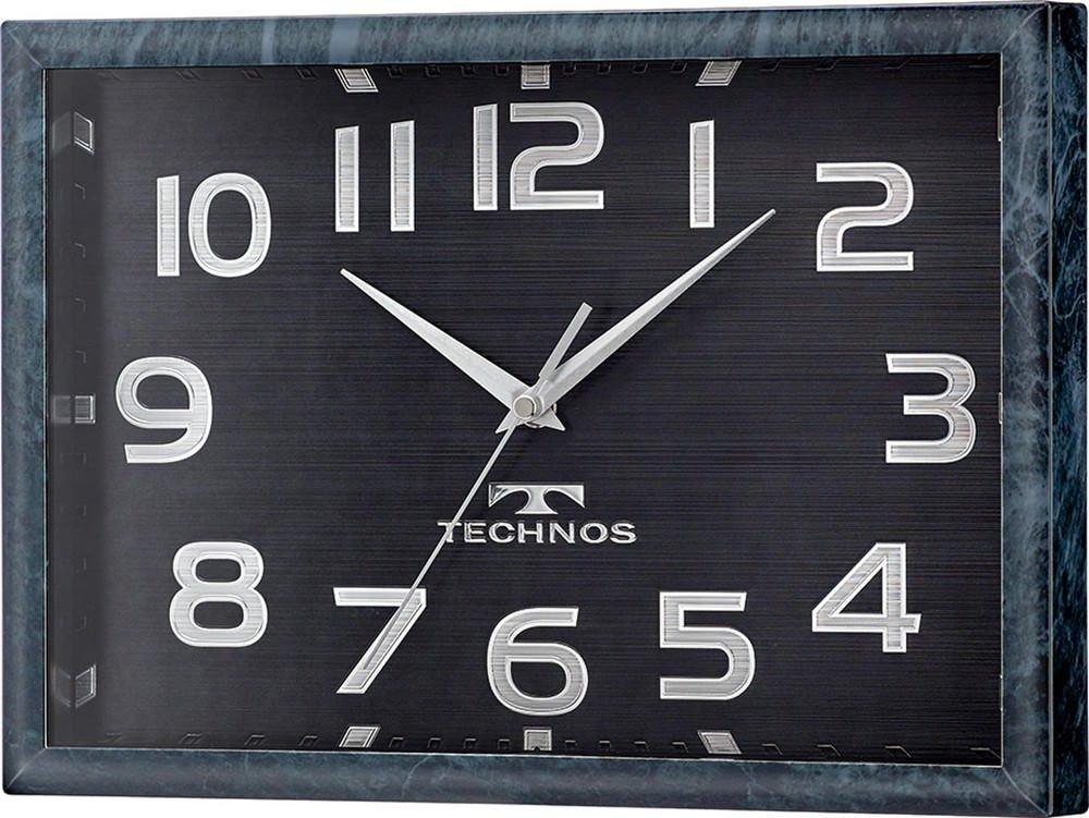TECHNOS(テクノス) 置き時計掛け時計 クロイシメ 22.6×31.5×4.8cm B01LVWDXY4