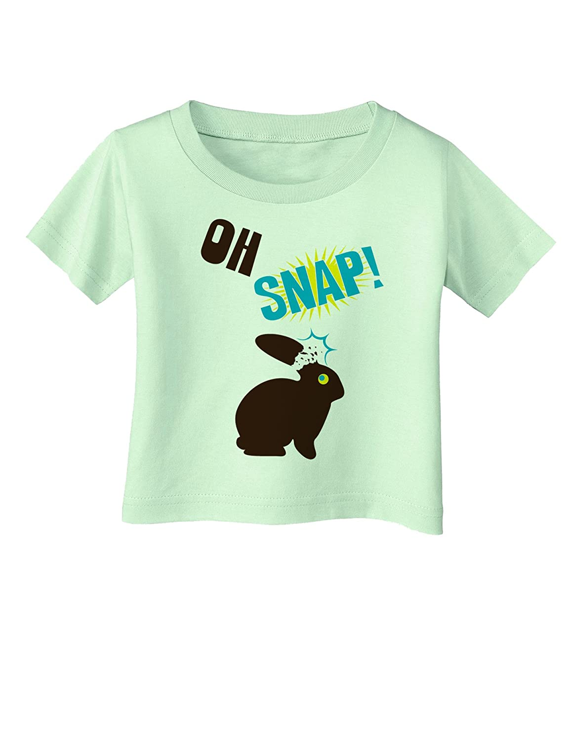 24Months Light Green Oh Snap Chocolate Bunny Easter Infant Baby T-Shirt