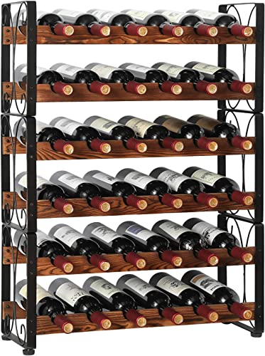X-cosrack Stackable Rustic 36 Bottle Wine Rack