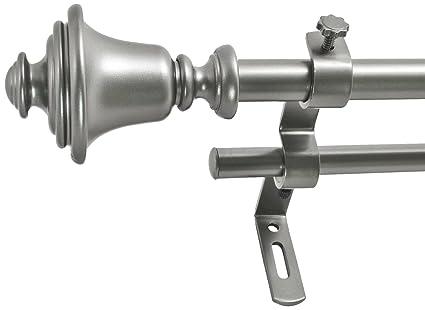 Amazon Com Montevilla 5 8 Inch Bell Double Window Treatment Rod Set