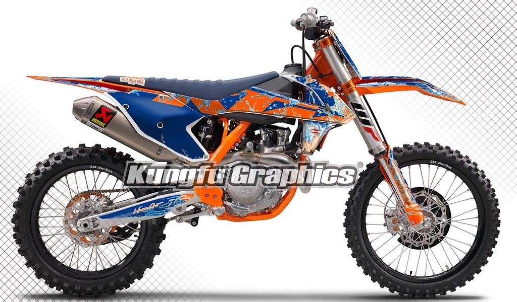 2016 250sx 250xc 300xc is NOT included Style 003 Orange White Kungfu Graphics Custom Decal Kit for 125 150 250 350 450 SX SXF SX-F XC XCF XC-F 2016 2017 2018
