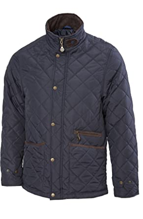 VEDONEIRE Mens Quilted Fleece lined Jacket (3059 NAVY) blue padded ...