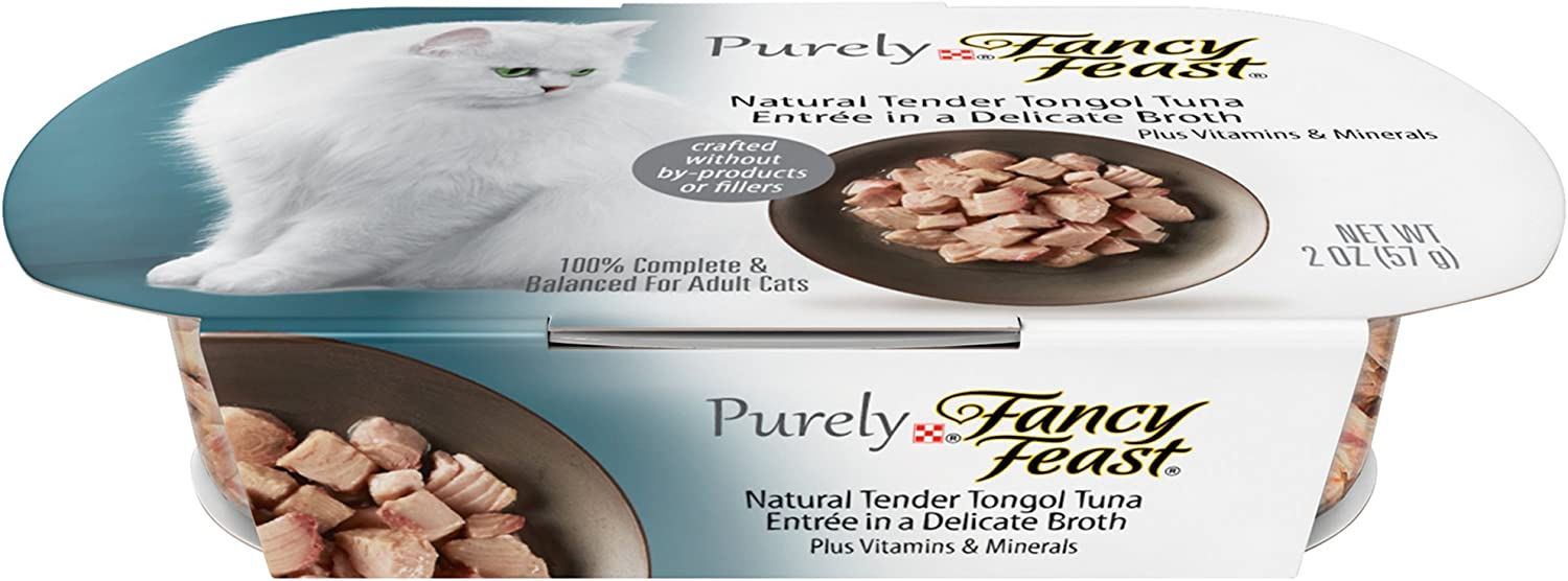 Fancy Feast Purely Tender Tongol Tuna Cat Food, 2-oz, case of 10
