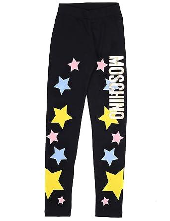 ea5910df2611d Moschino Kids Girl's Star Logo Leggings (Little Kids/Big Kids) Black 4 US