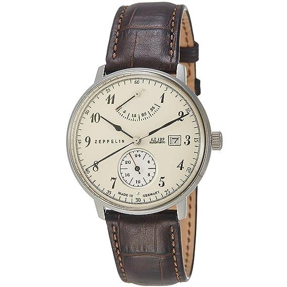 Zeppelin Reloj de mujer automático 40mm correa de piel de ternero 7060-4