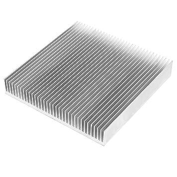 Tono Plateado Radiador De Aluminio Disipador térmico disipador térmico 90mm x 90mm x 15mm