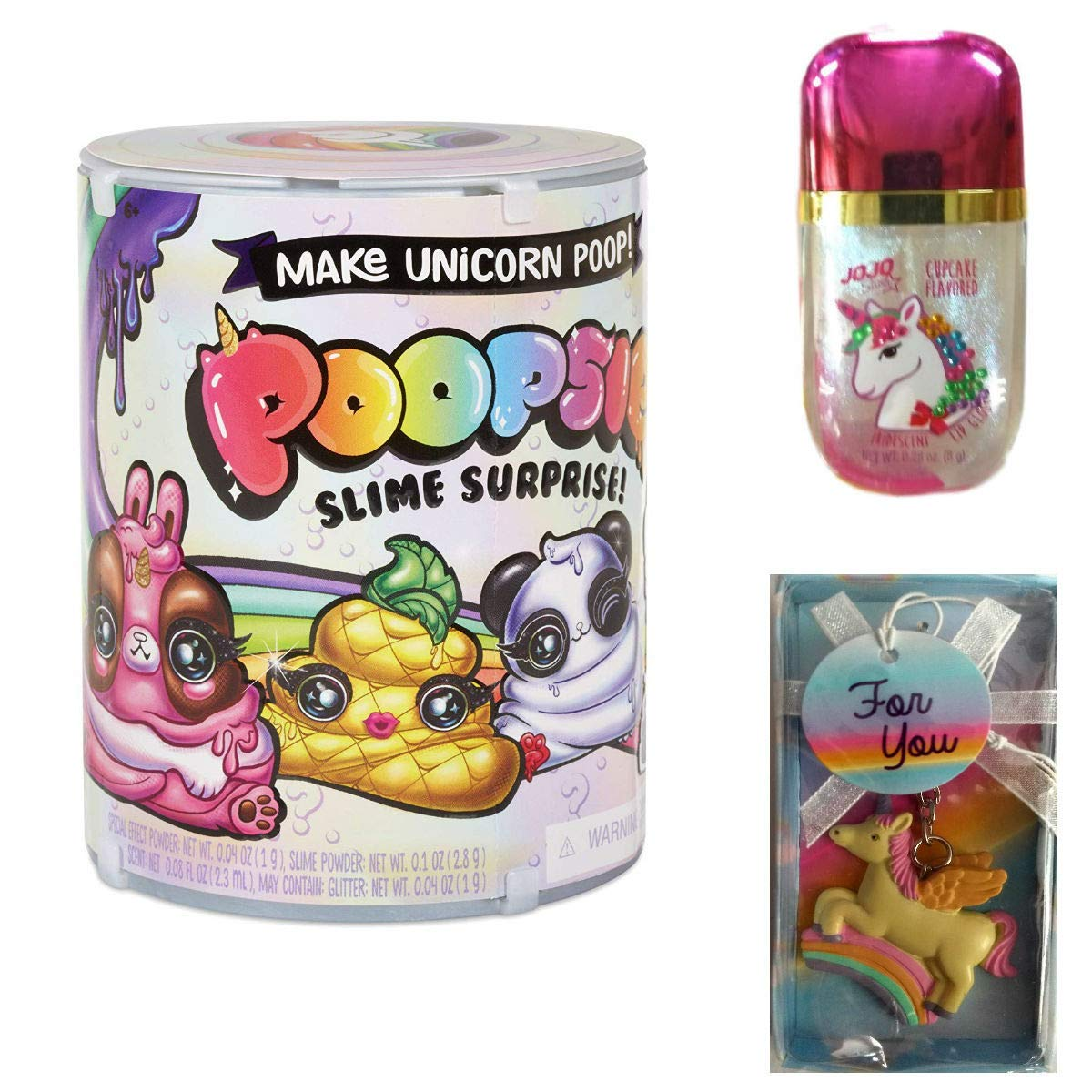 Poopsie Slime Surprise, Girls Toys Include Unicorn Keychain and Lipgloss Bundle 3 Items (Flavored)