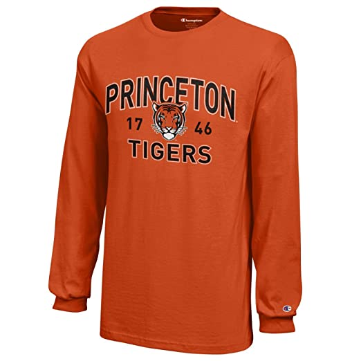 huge discount 42112 55841 NCAA Champion Boy's Long Sleeve Jersey T-Shirt Princeton Tigers Large