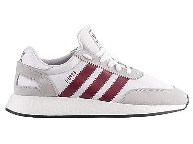 purchase cheap c9763 84177 Amazon.com   adidas Originals I-5923 - Men s White Collegiate Burgundy Grey  Nylon Running Shoes   Fashion Sneakers