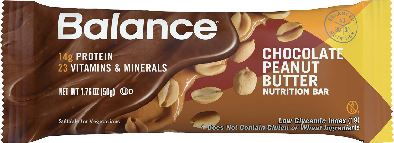 Balance Bar® Chocolate Peanut Butter, 1.76 ounce bars, 6 count