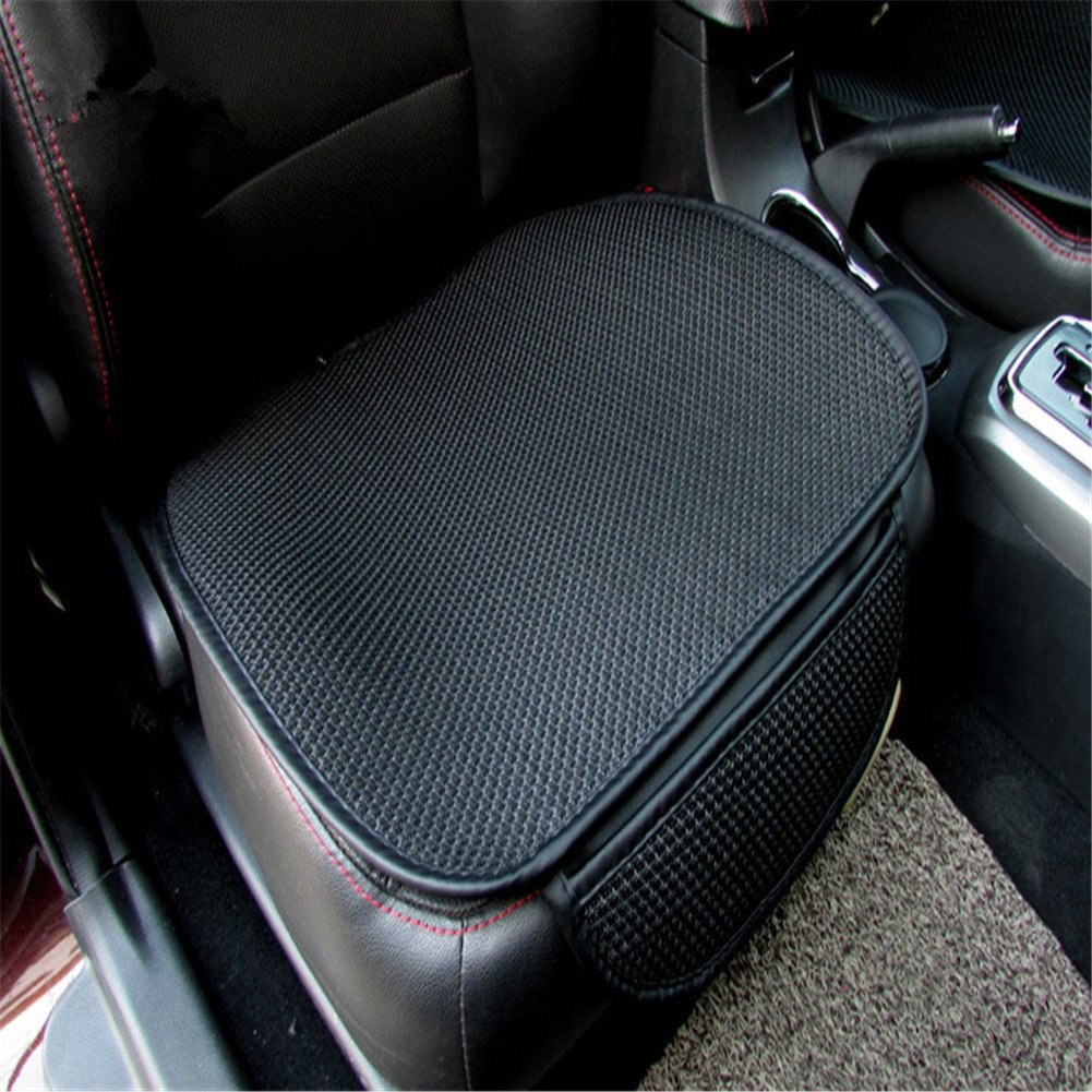 Car Linen Cushion Health Care Small Square Mat Non-Slip Car Cushion Office Seat Cushion Car Seat Cushion(Black)