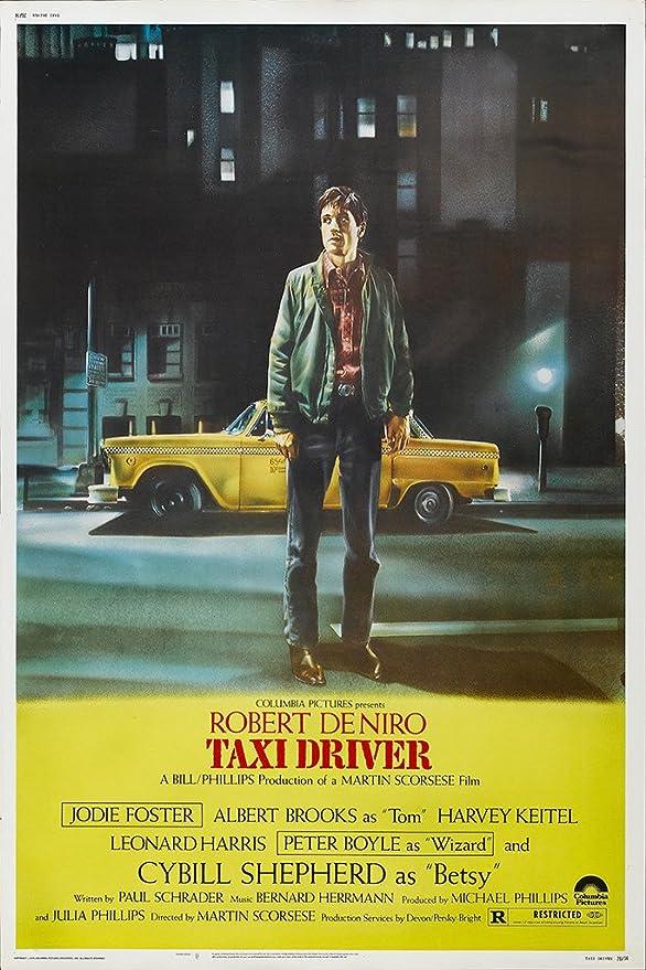 "Poster del film ""Taxi Driver"" (1976, Martin Scorsese, Robert de Niro, Jodie  Foster, Cybill Shepherd), Carta, A2: Amazon.it: Casa e cucina"