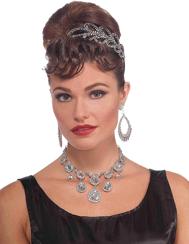 Forum Novelties Vintage Hollywood Rhinestone Necklace