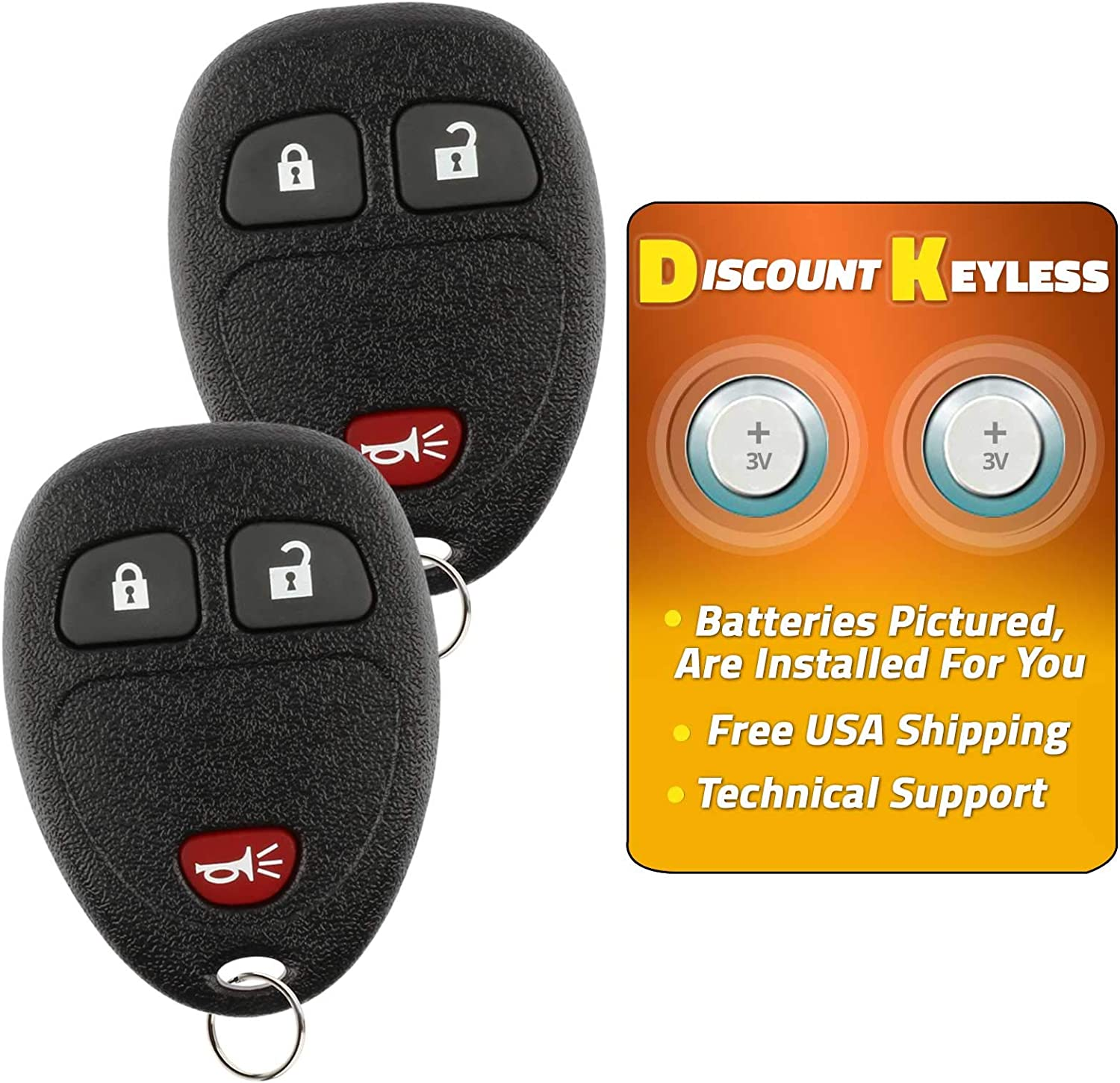 15752330 Discount Keyless Replacement Key Fob Car Remote Compatible with KOBLEAR1XT