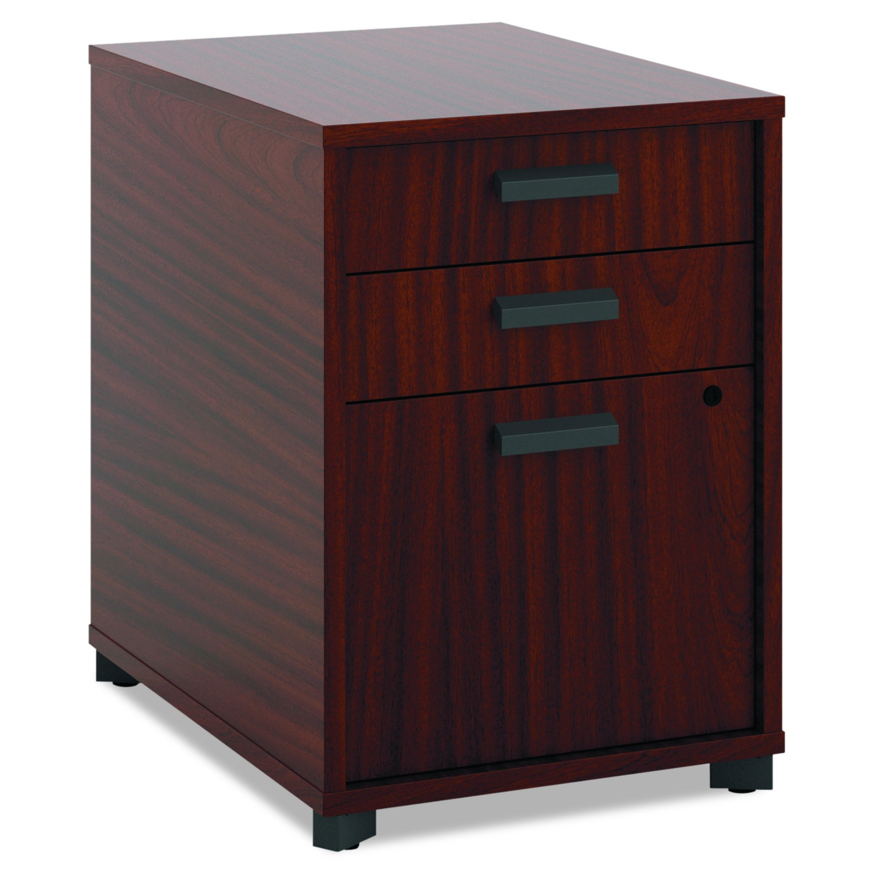 HON Manage Pedestal File - 2 Pencil Drawers with 1 File Drawer, 15-3/4''W, Chestnut (HMNG15PED)