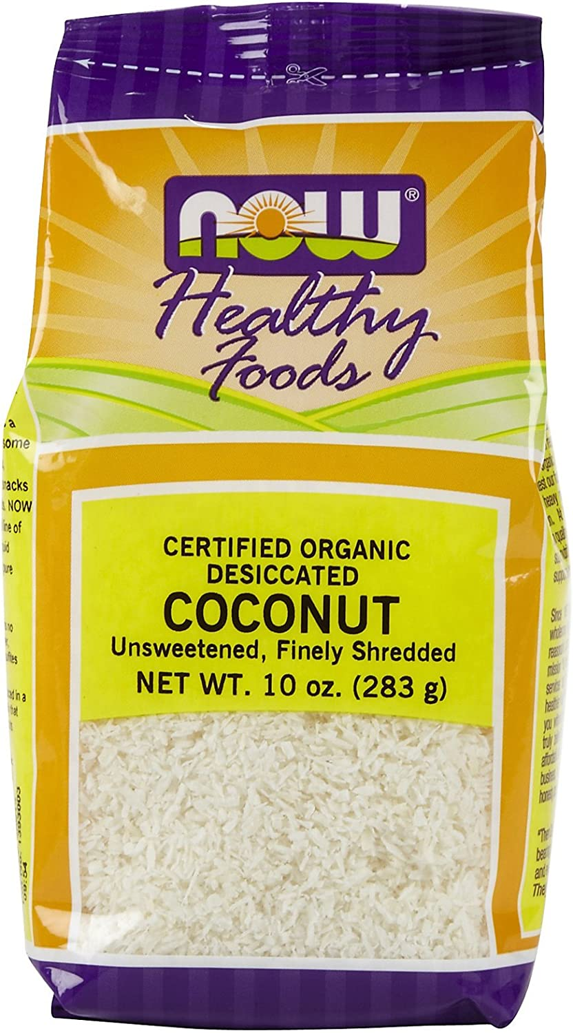 Now Foods Organic Coconut Shredded Unswtnd 10 oz 2 Pack