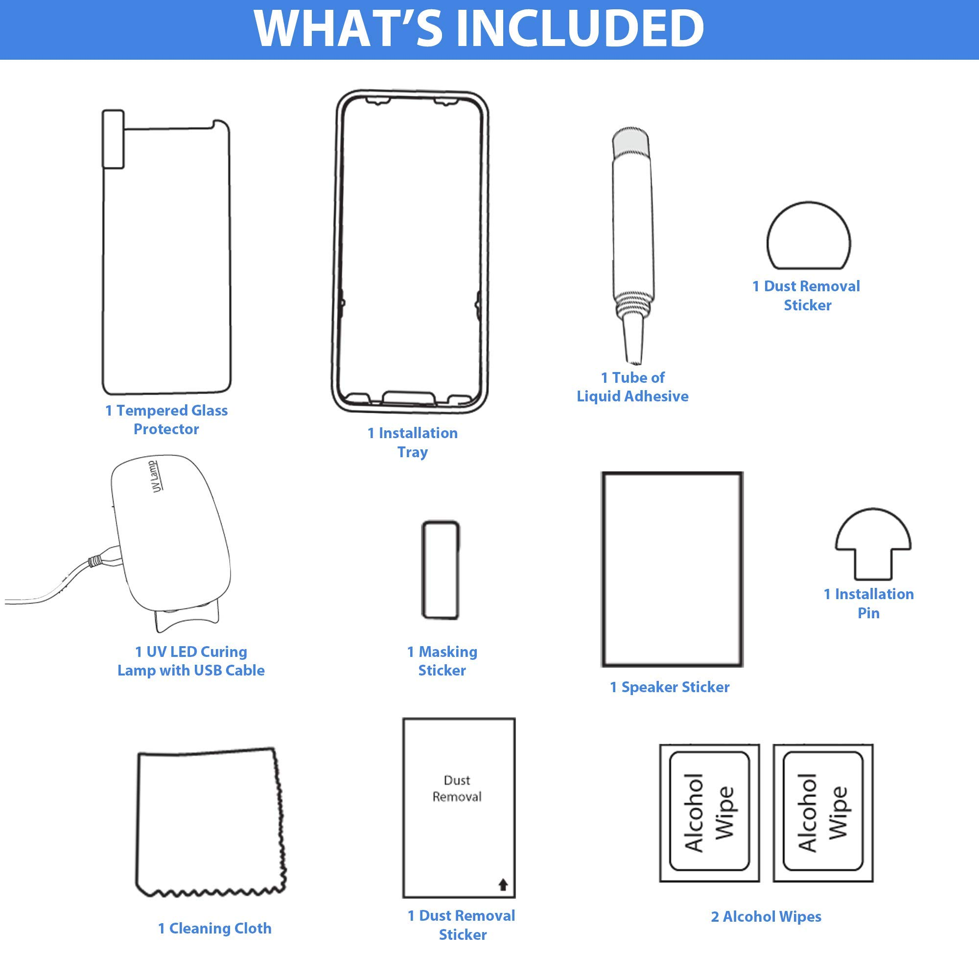 Clearview Samsung Galaxy S8 Liquid Tempered Glass Screen Protector - 9H Ultra Clear HD Japanese Glass, Full Screen Edge Coverage, Easy Install, Loca UV Light, Case Friendly (Full Kit) by Clearview (Image #6)