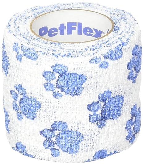 NqceKsrdfzn Hund Fersensporn Bandage selbsthaftende Sportbandage Elastische Fixierbinde (weiß + blau)