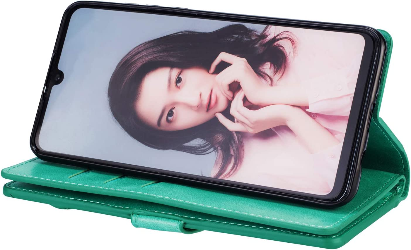 JAWSEU Case Flip Compatible with Huawei P30 Lite Premium PU Leather Wallet Folio Stand Cover Full Body Design Inner Soft TPU Silicone with Card Slots Magnetic Closure Protective Flexible Cover,Black