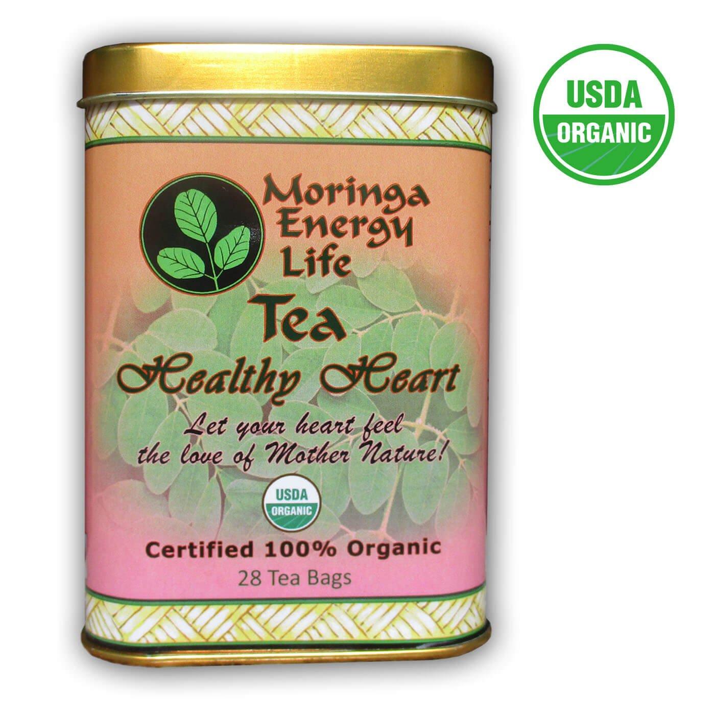 MORINGA HEALTHY HEART TEA - 100% USDA Organic - Let Your Heart Feel the Love of Mother Nature by Moringa Energy Life