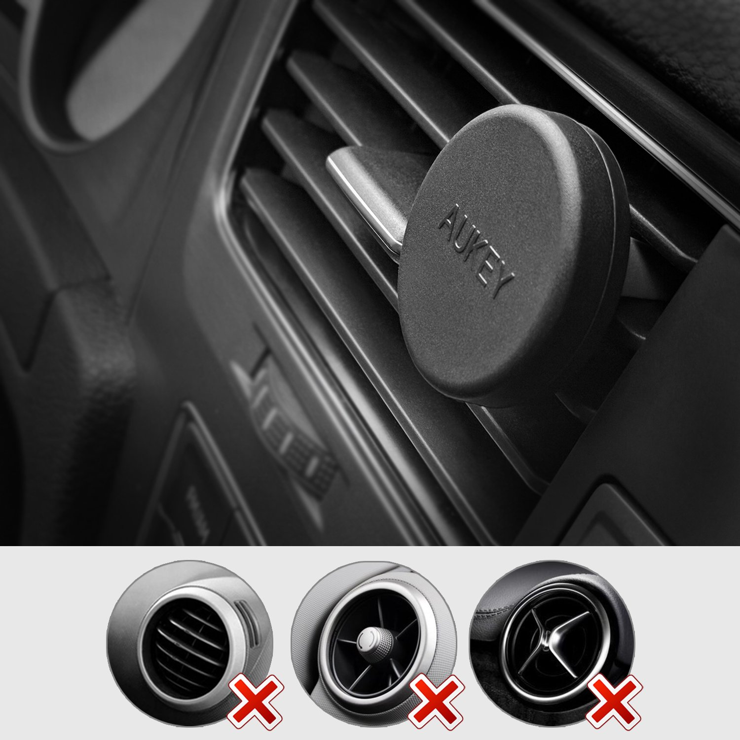aukey car phone mount air vent magnetic phone holder