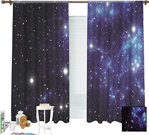 ZXAWT Abstract Space Nebula Backgrounds Curtains Pocket top Curtain Thermal Insulated Curtain for -Set of 2 Panels W 72 L 72