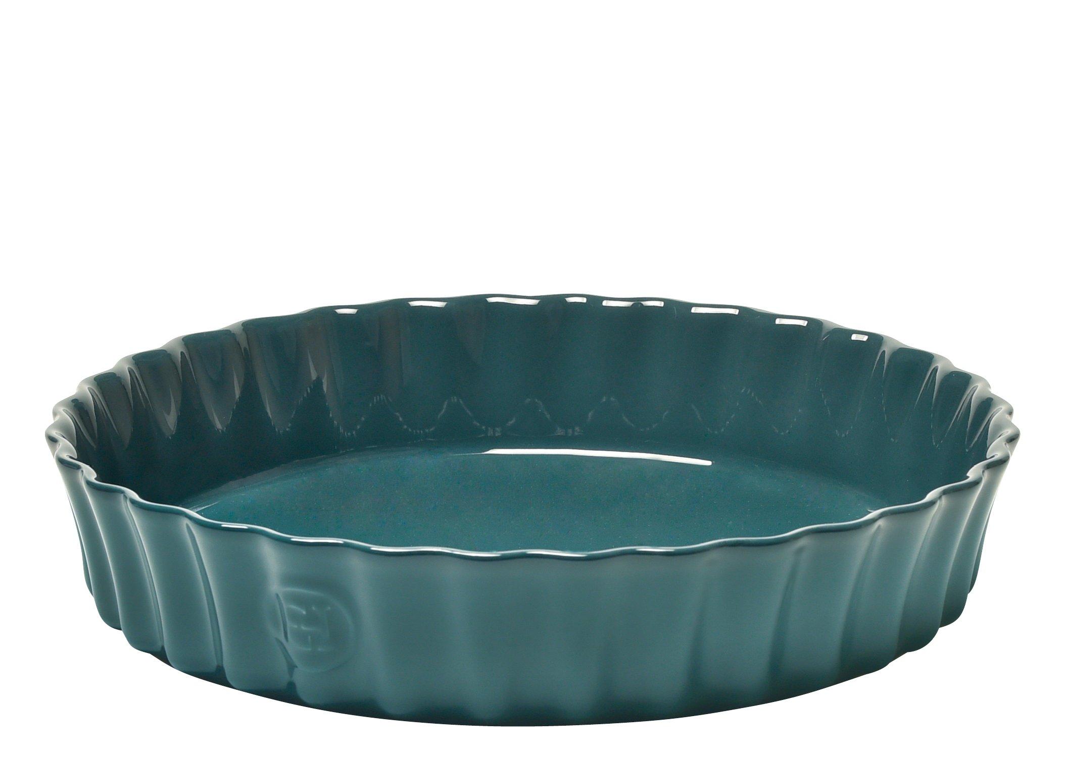 Emile Henry 976024 Deep Flan Dish, 1.2 Qt, Blue Flame