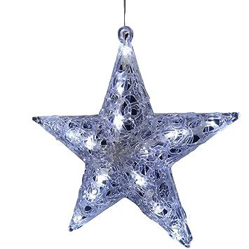Weihnachtsbeleuchtung Aussen Stern Preise.20 Led Acrylstern Leuchtstern Weihnachtsstern Stern Mit Belechtung Acrylfigur Beleuchtetes Fensterbild Adventsstern Weihnachtsbeleuchtung