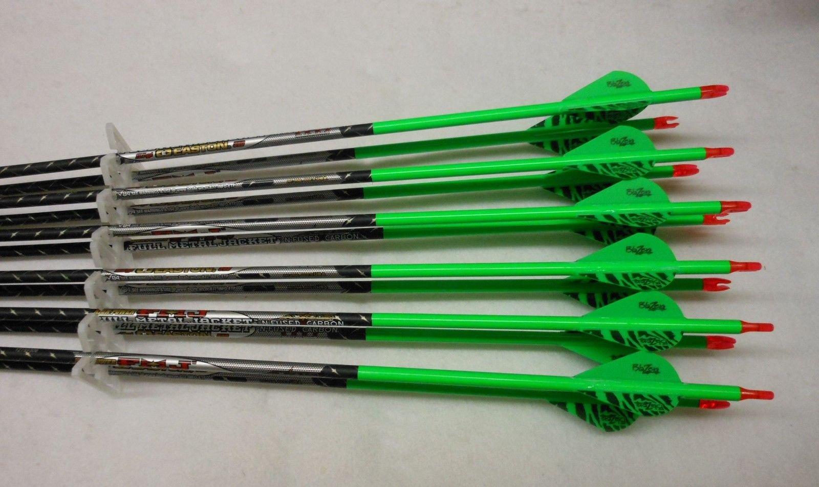 Easton ST Axis Full Metal Jacket Arrows w/Blazer Vanes Wraps 1 Dz.