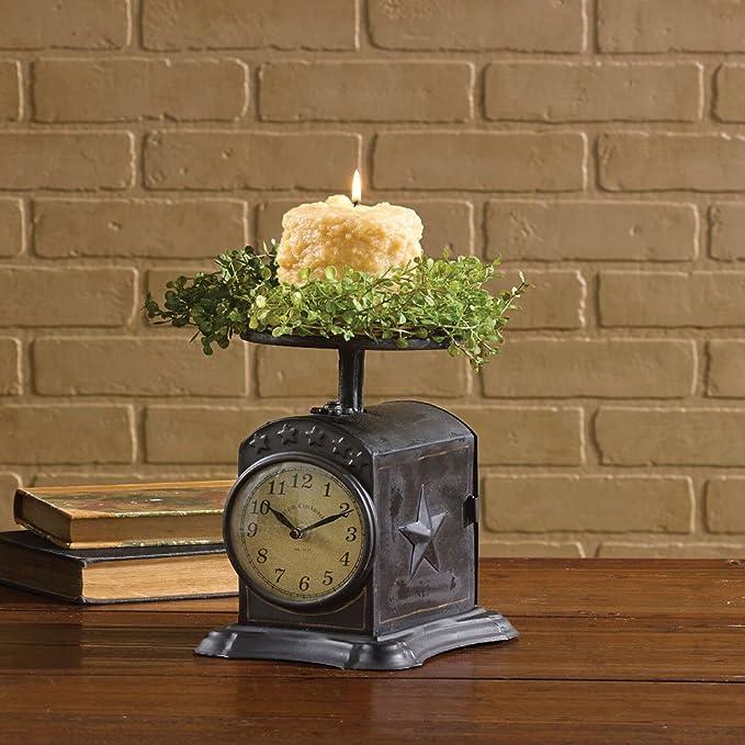Amazon Com Park Designs Black Favorite Scale Clock Home Kitchen