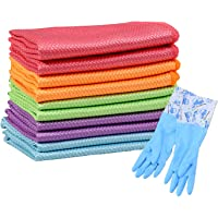 10 PCS Fish Scale Cleaning Cloth, Microfiber Cloth Nanoscale Glass Polishing Cloths, Reusable Cleaning Rags for All…
