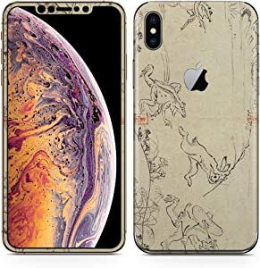 igsticker iPhone Xs Max Skin Sticker Full Body Coverage Vinyl Decal - Dustproof Anti-Scratch for Apple iphonexs max xsmaxfull-011485-ds Japanese Style Japanese Pattern Animal