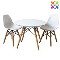 Child Kids Eiffel Inspired Table & set of 2 white chairs