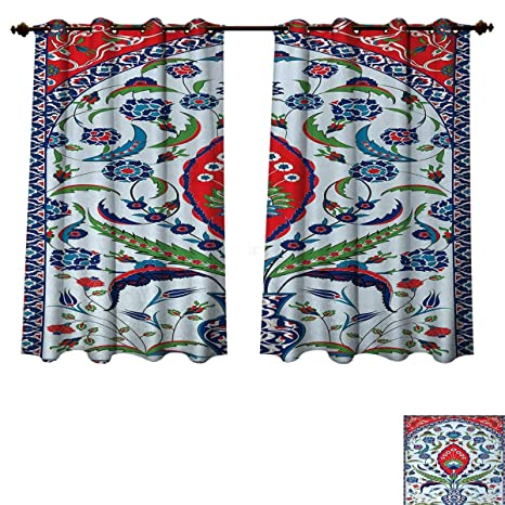 Amazon Turkish Pattern Bedroom Thermal Blackout Curtains Floral Delectable Turkish Pattern