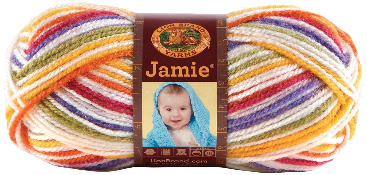 Bulk Buy: Lion Brand Jamie Yarn (3-Pack) Mardi Gras Stripes 881-206